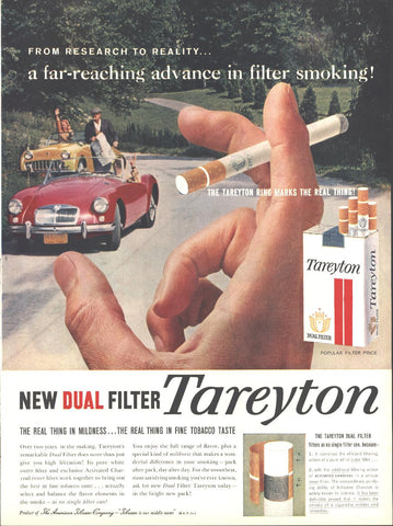 Tareyton Cigarettes Page LIFE October 20 1958