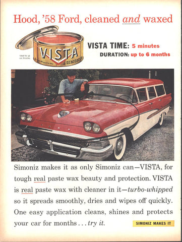 Simoniz Car Wax Page LIFE October 20 1958