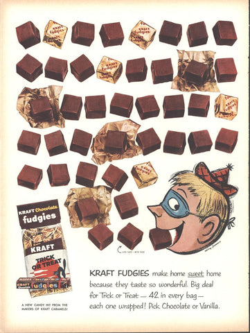 Kraft Fudgies Halloween Candy Page LIFE October 20 1958