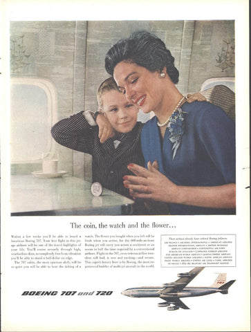 Boeing 707 720 Airliner Jets Page LIFE October 20 1958