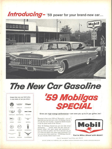 Mobilgas Gasoline Page LIFE October 20 1958