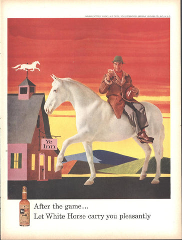 White Horse Scotch Whiskey Page LIFE October 20 1958