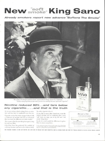 King Sano Cigarettes Page LIFE October 20 1958