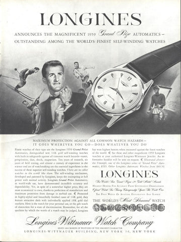 Longines Men's Watches Page LIFE October 20 1958