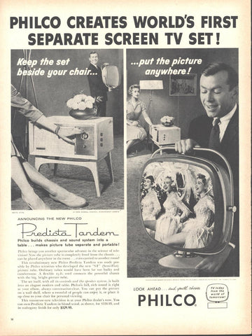 Philco Predicta Tandem Portable Television Page LIFE October 20 1958