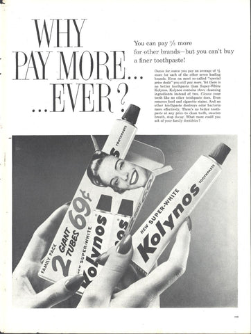 Kolynos Toothpaste Page LIFE October 20 1958