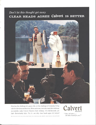 Calvert Reserve Whiskey Page LIFE October 20 1958