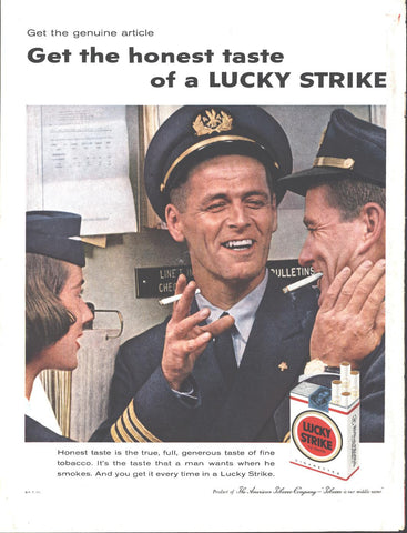 Lucky Strike Cigarettes Page LIFE October 20 1958