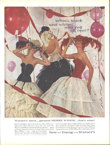 Warner's Merry Widow Girdles Page LIFE December 5 1960
