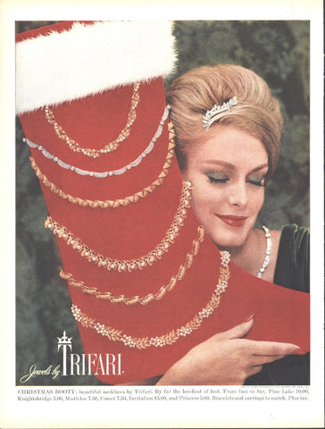 Trifari Jewel Necklaces Christmas Page LIFE December 5 1960