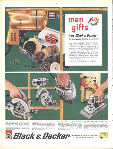 Black Decker Power Tools Christmas Page LIFE December 5 1960