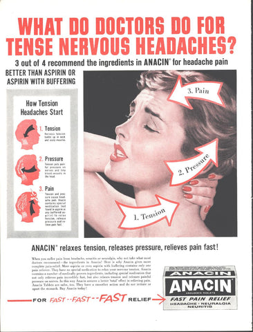Anacin Analgesic  Headache Tablets Page LIFE December 5 1960