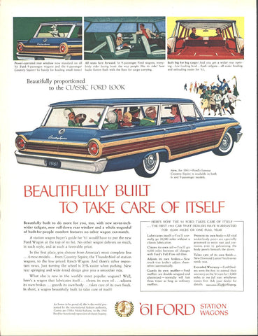 61 Ford Country Squire Station Wagon Page LIFE December 5 1960