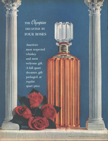 Four Roses Whiskey Olympic Decanter Page LIFE December 5 1960