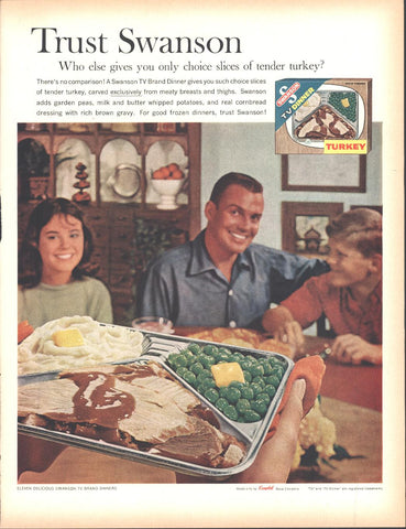 Swanson Frozen Turkey Dinner Page LIFE December 5 1960
