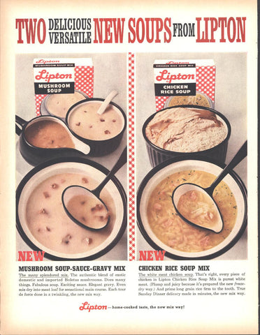 Lipton Packaged Soups Page LIFE December 5 1960