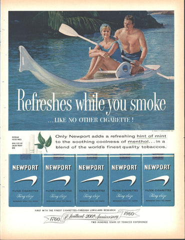 Newport Cigarettes Page LIFE December 5 1960