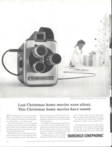 Fairchild Cinephonic Movie Camera Christmas Page LIFE December 5 1960