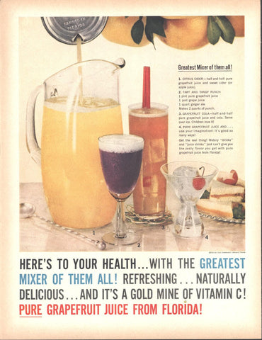 Florida Citrus Commission Grapefruit Juice Page LIFE December 5 1960