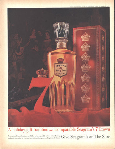 Seagram's 7 Crown Whiskey Christmas Page LIFE December 5 1960