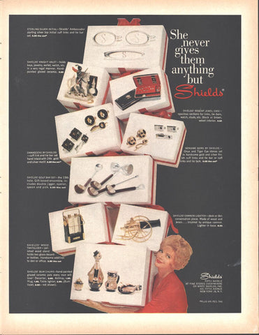Shields 5th Avenue Mens Gifts Christmas Page LIFE December 5 1960