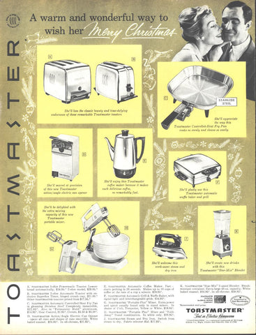 Toastmaster Small Appliances Christmas Page LIFE December 5 1960