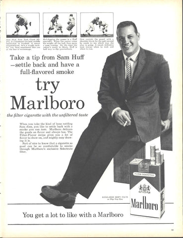 Marlboro Cigarettes Sam Huff New York Giants Page LIFE December 5 1960