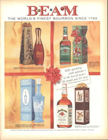 Jim Beam Kentucky Bourbon Whiskey Christmas Page LIFE December 5 1960