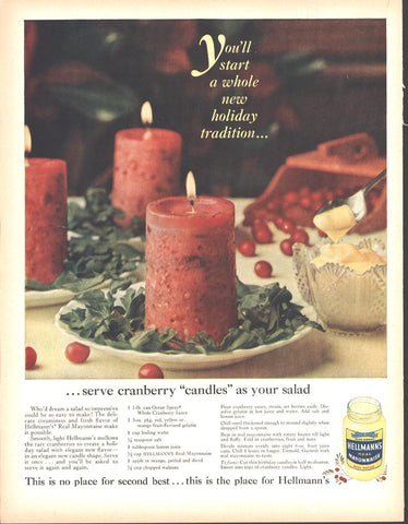 Hellman's Mayonnaise Christmas Page LIFE December 5 1960