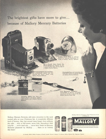 Mallory Batteries Christmas Page LIFE December 5 1960