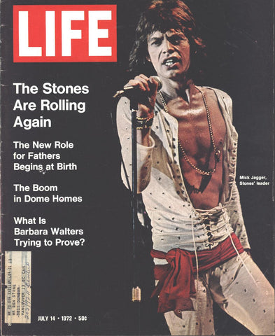 Cover Mick Jagger Framed LIFE July 14 1972