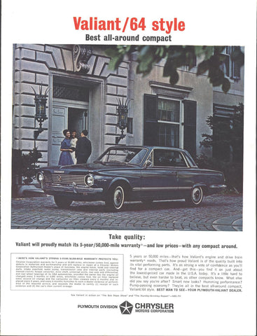 64 Plymouth Valiant 2 Door HT Page LIFE October 11 1963
