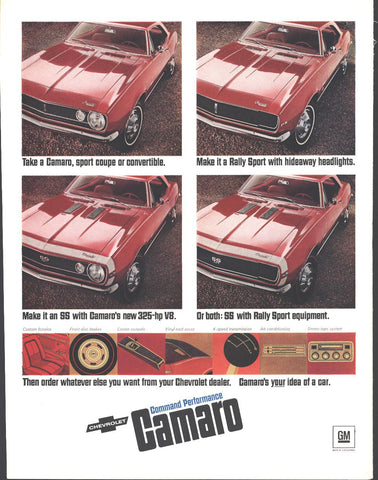 67 Chevrolet Camero RR RS Page LIFE January 27 1967