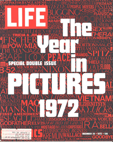 Cover The Year in Pictures 1972 Last Edition LIFE December 29 1972