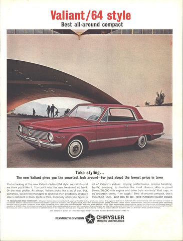 64 Plymouth Valiant 2 Door HT Page LIFE September 27 1963