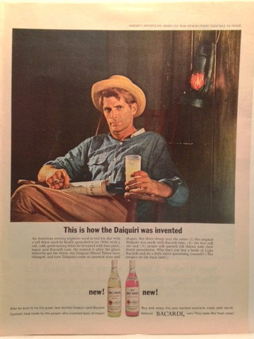 Bacardi Rum Daiquiri Page LIFE April 29 1966