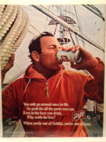 Schlitz Beer Page LIFE April 10 1970