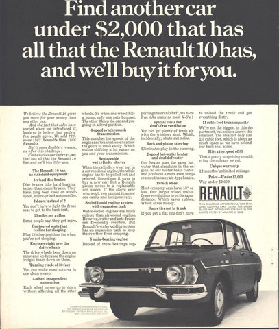 Renault 10 1968 Page LIFE March 29 1968