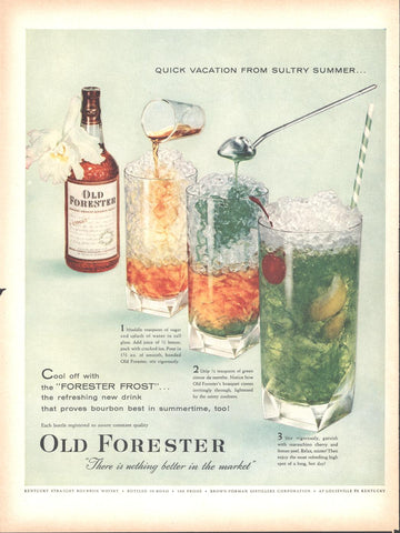 Old Forrester Whiskey LIFE July 2 1956