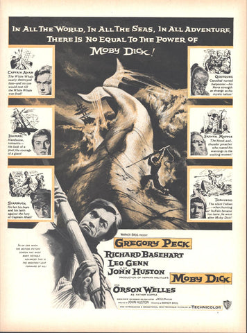 Moby Dick Movie Gregory Peck LIFE July 2 1956