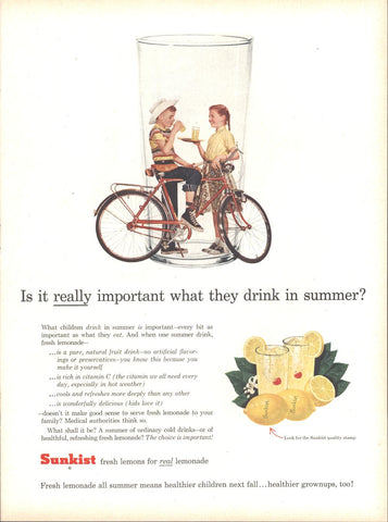 Sunkist Fresh Lemons LIFE July 2 1956