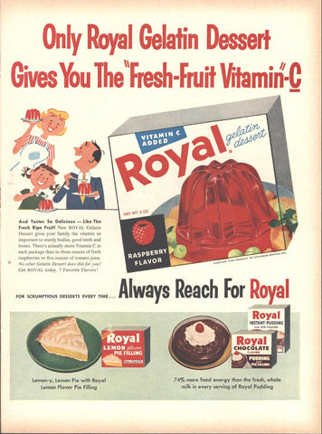 Royal Gelatin Pudding LIFE July 2 1956