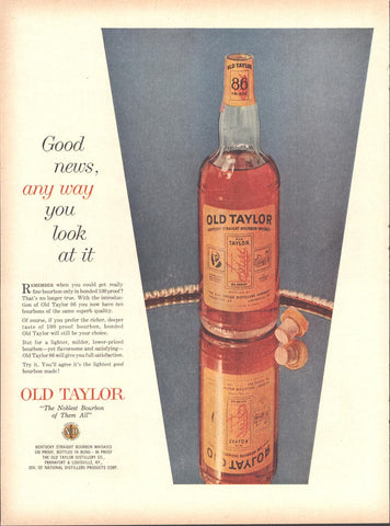Old Taylor Whiskey LIFE July 2 1956