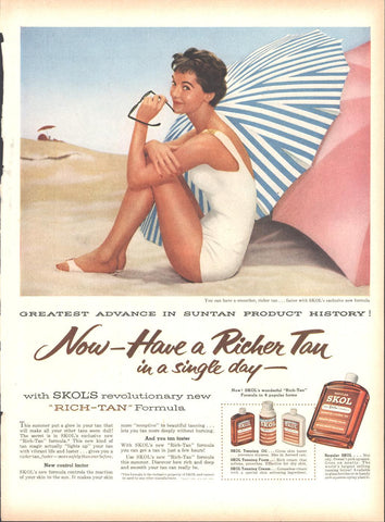 Skol Suntan Lotion LIFE July 2 1956