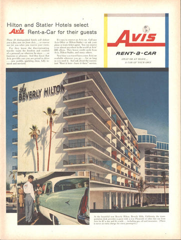 Avis Rent A Car Beverly Hilton LIFE February 6 1956