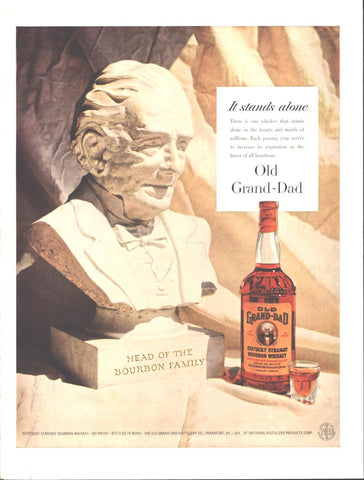 Old Grand-Dad Kentucky Bourbon LIFE February 6 1956