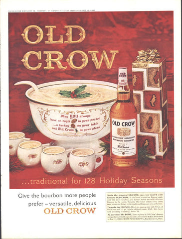 Old Crow Whiskey Christmas Page LIFE December 20 1963