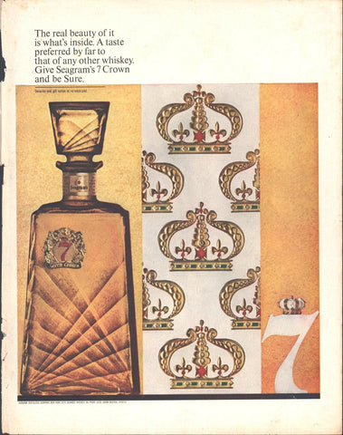 Seagrams 7 Crown Whiskey LIFE December 20 1963