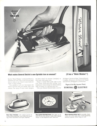 General Electric Small Appliances Page LIFE October 5 1962