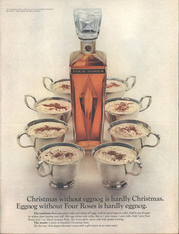 Four Roses Whiskey Christmas Page LIFE December 2 1967